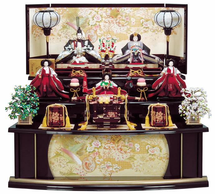 雛人形 特選 ひな人形 雛 五人飾り 三段飾り 平安豊久作 春日 【2013年度新作】 h243-mo-303453