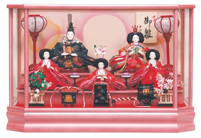 雛人形 特選 ひな人形 雛 ケース飾り 五人飾り 平安豊久作 あづみ 芥子五人 【2013年度新作】 h243-mo-333156