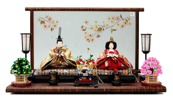 雛人形 特選 千匠 ひな人形 雛人形 特選 雛 親王飾り 雛 平飾り h243-ss-38g-16 【2019年度新作】