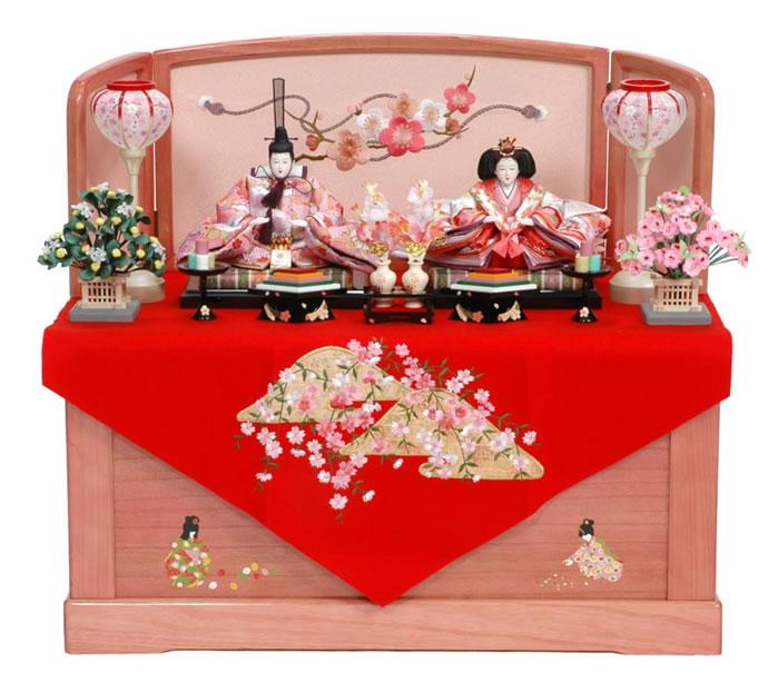 雛人形 特選 雛 親王飾り 収納飾り ひな人形 千匠人形工房 h233-39a-116 【2014年度新作雛人形 特選】