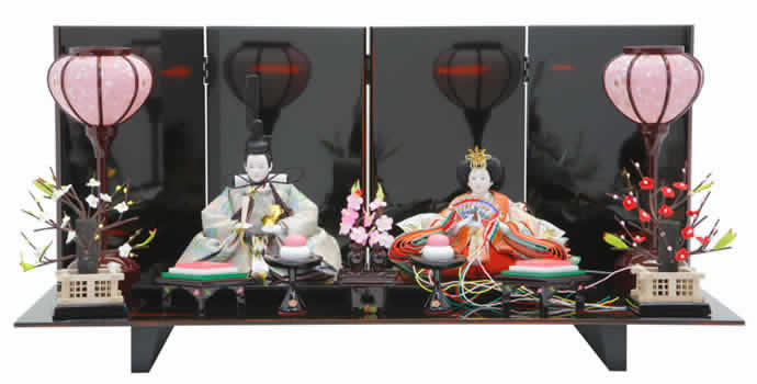雛人形 ひな人形 雛人形 雛 親王飾り 雛 平飾り h243-ed-5a302 【2019年度新作】