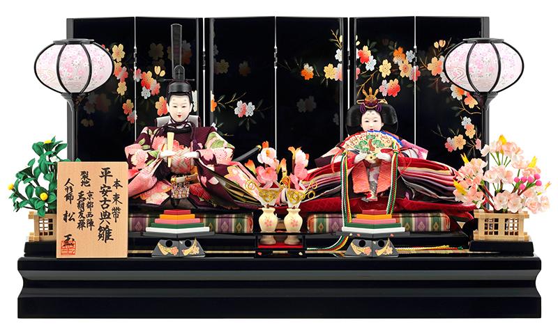 雛人形 ひな人形 雛人形 雛 親王飾り 雛 平飾り 雛 名匠・逸品飾り 松玉作 平安古典雛 本束帯 mi-mf102 【2019年度新作】