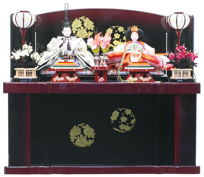 雛人形 特選 ひな人形 雛 収納飾り 親王飾り 【2020年度新作】 h243-ed-6a204