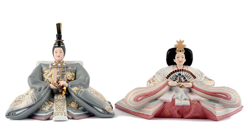 雛人形 特選 ひな人形 雛人形 特選 雛 親王飾り 人形単品 ミンロン社製 ポーセリン雛 磁器人形 陶器の雛人形 特選 春桜 h273-ml-002