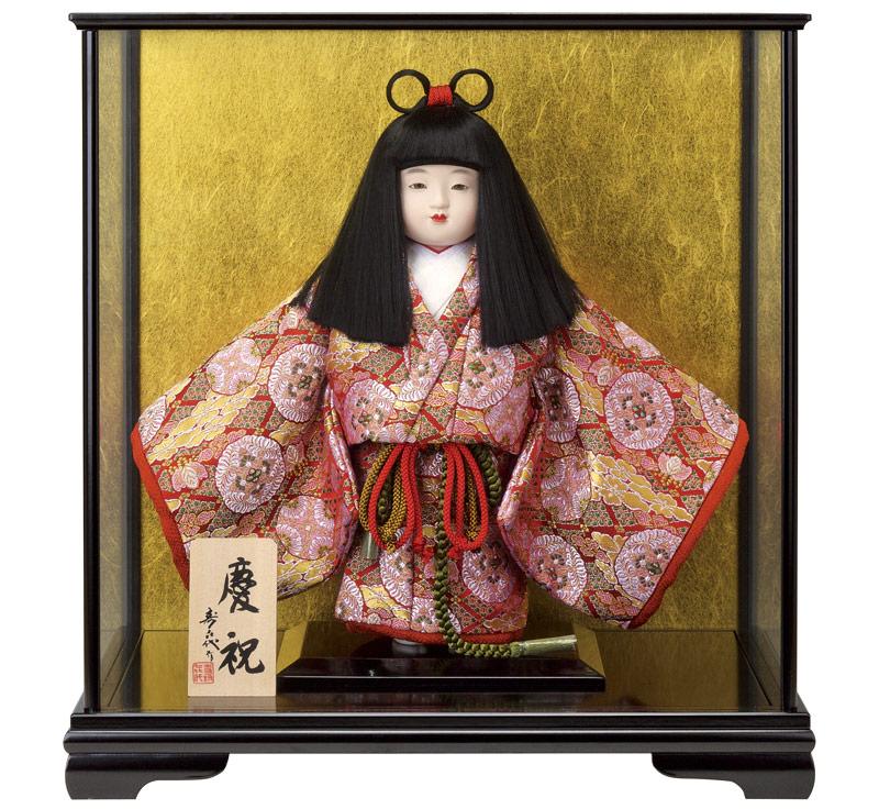 雛人形 特選 スキヨ ひな人形 雛 ケース飾り 浮世人形 寿喜代作 慶祝396 西陣織 【2018年度新作】 h303-sk-396