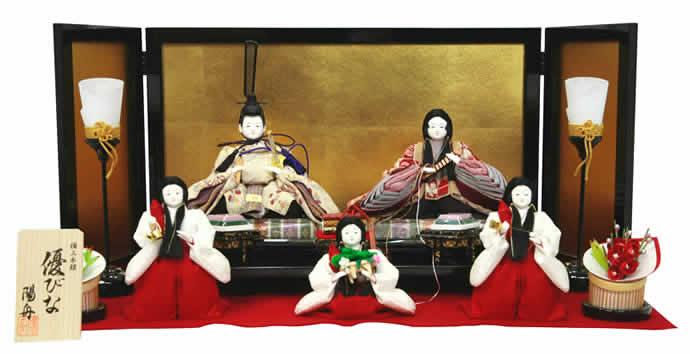 雛人形 スキヨ ひな人形 雛人形 雛 平飾り 五人飾り 雛 名匠・逸品飾り 陽舟作 極上本頭 優びな h243-sk-38204es 【2019年度新作】
