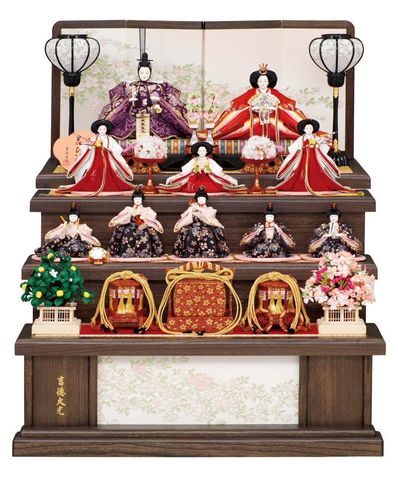 雛人形 特選 吉徳 ひな人形 雛人形 特選 雛 三段飾り 十人飾り 雛 名匠・逸品飾り 花ひいな h253-ys-306261 【2019年度新作】