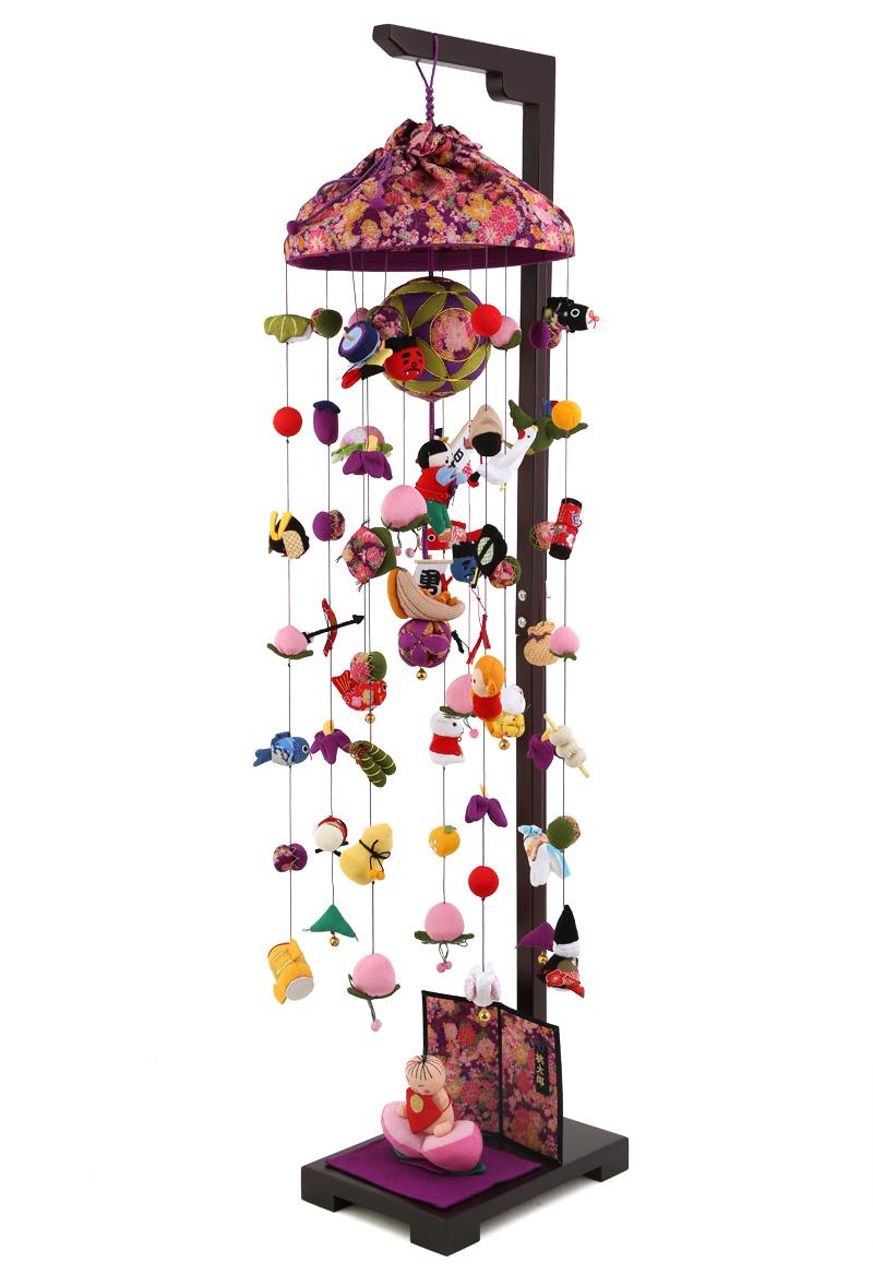 五月人形 つるし飾り 新桃太郎 大 飾り台セットh285-sb-tr-p501s 人形屋ホンポ