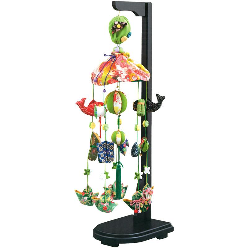 五月人形 つるし飾り さげもん 端午のつるし飾り 緑 二重紐 【2018年度新作】 h305-k-fhb-61オ K-151