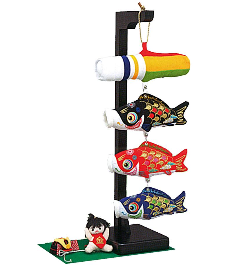 五月人形 久月 室内飾り 室内鯉のぼり 鯉幟つるし 金太兜 【2020年度新作】 h315-k-wtm-1 K-158