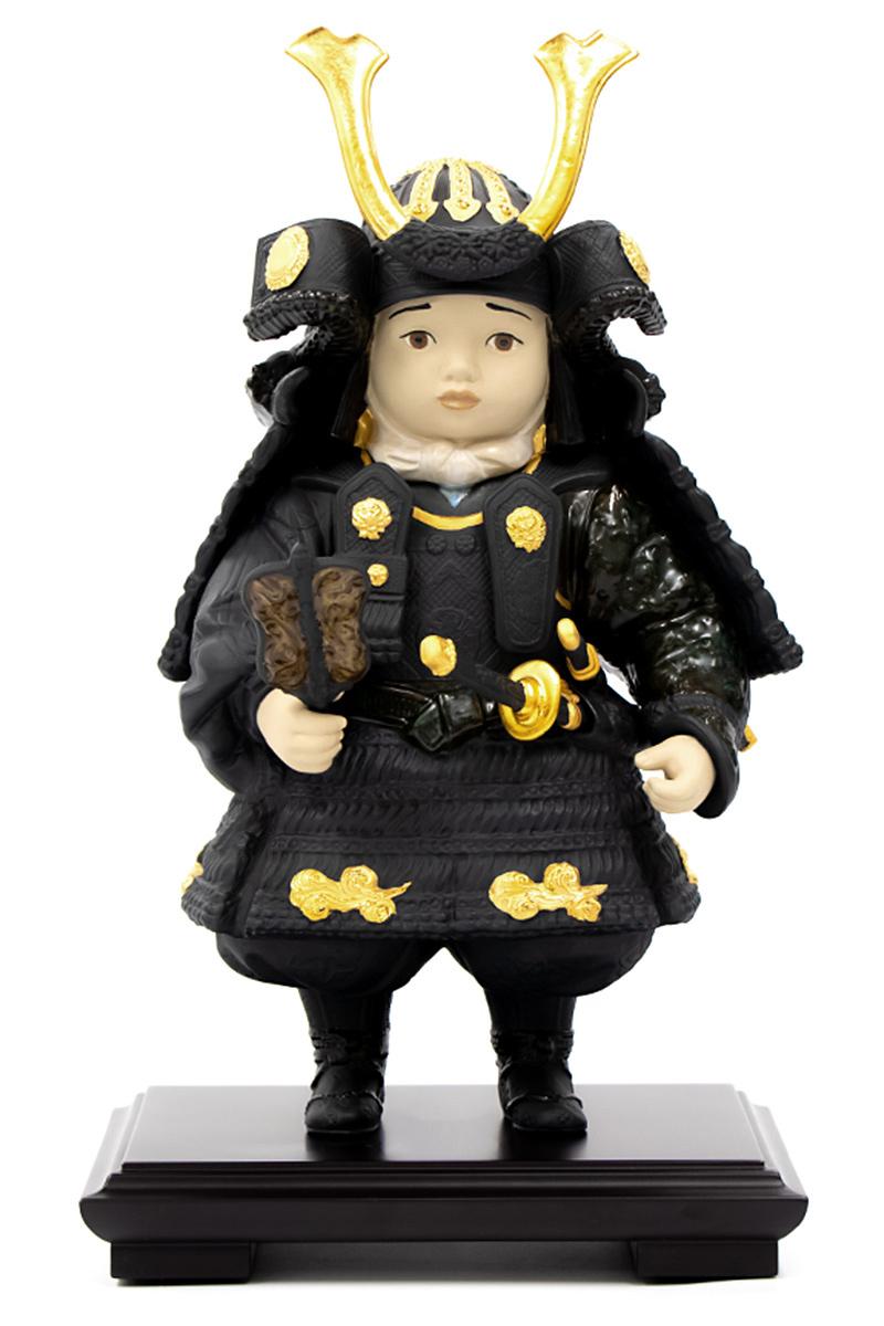 リヤドロ 五月人形 子供大将飾り 武者人形 Lladro 磁器人形 若武者 Gold 台座付 【2019年度新作】 h315-01012557