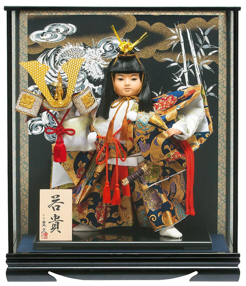 五月人形 豊久 武者人形 ケース飾り 若貴 12号 【2019年度新作】 h315-mo-530666 GD-244