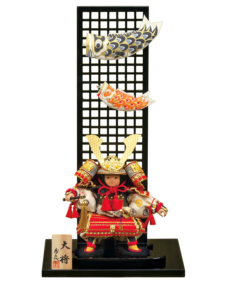 五月人形 コンパクト 子供大将飾り 武者人形 平飾り スキヨ作 大将 【2018年度新作】 h305-sk-179-5520