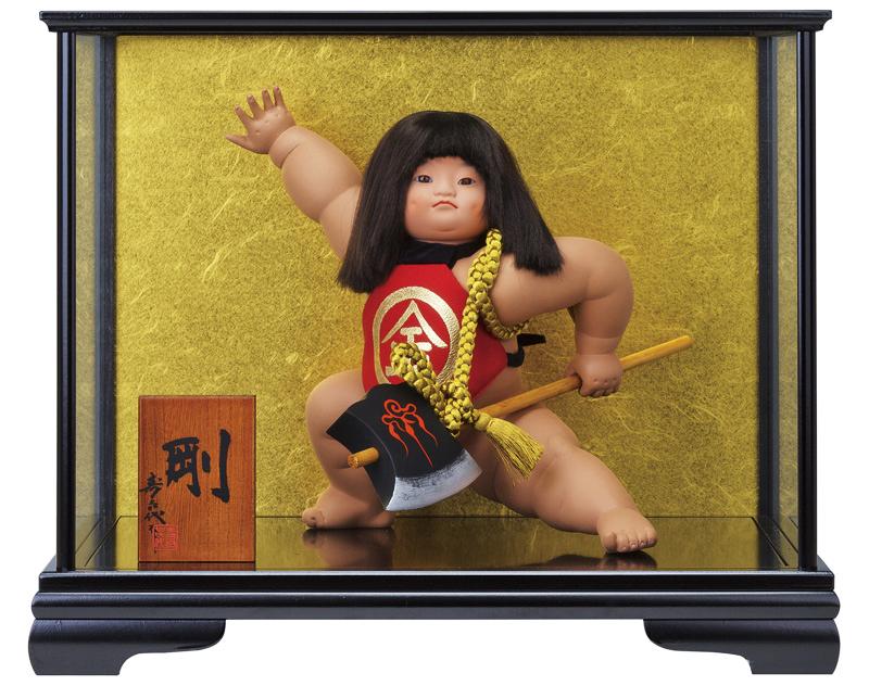 五月人形 金太郎 ケース飾り 浮世人形 寿喜代作 剛 ガラスケース付 【2020年度新作】 h025-sk-6309