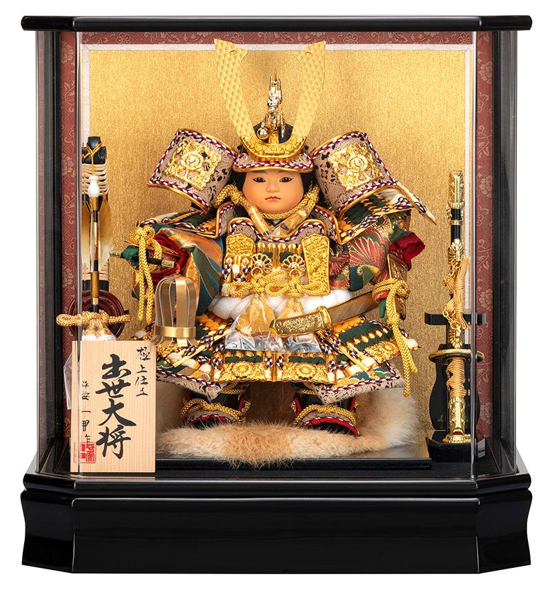 五月人形 子供大将飾り 武者人形 ケース飾り 平安一甲作 出世大将 5号 【2019年度新作】 h315-moys-519-030