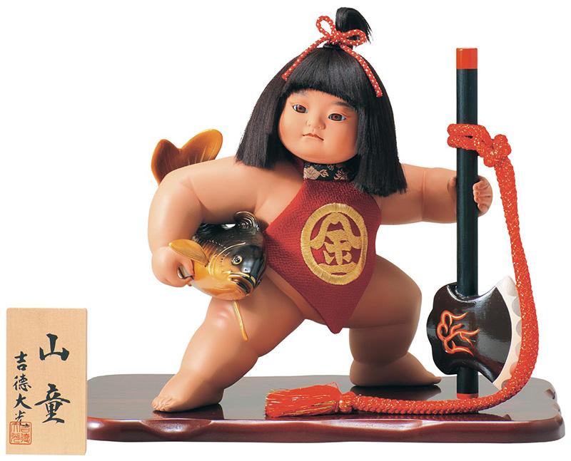 五月人形 吉徳 金太郎 浮世人形 ケース飾り 10号 山童 【2019年度新作】 h315-ys-503260