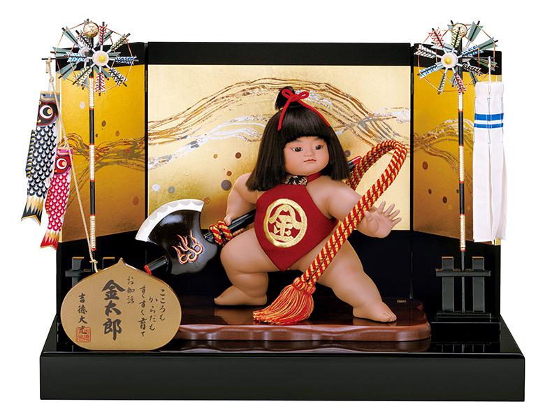 五月人形 吉徳 金太郎 浮世人形 平飾り 童心出し飾り 【2019年度新作】 h315-ys-507002