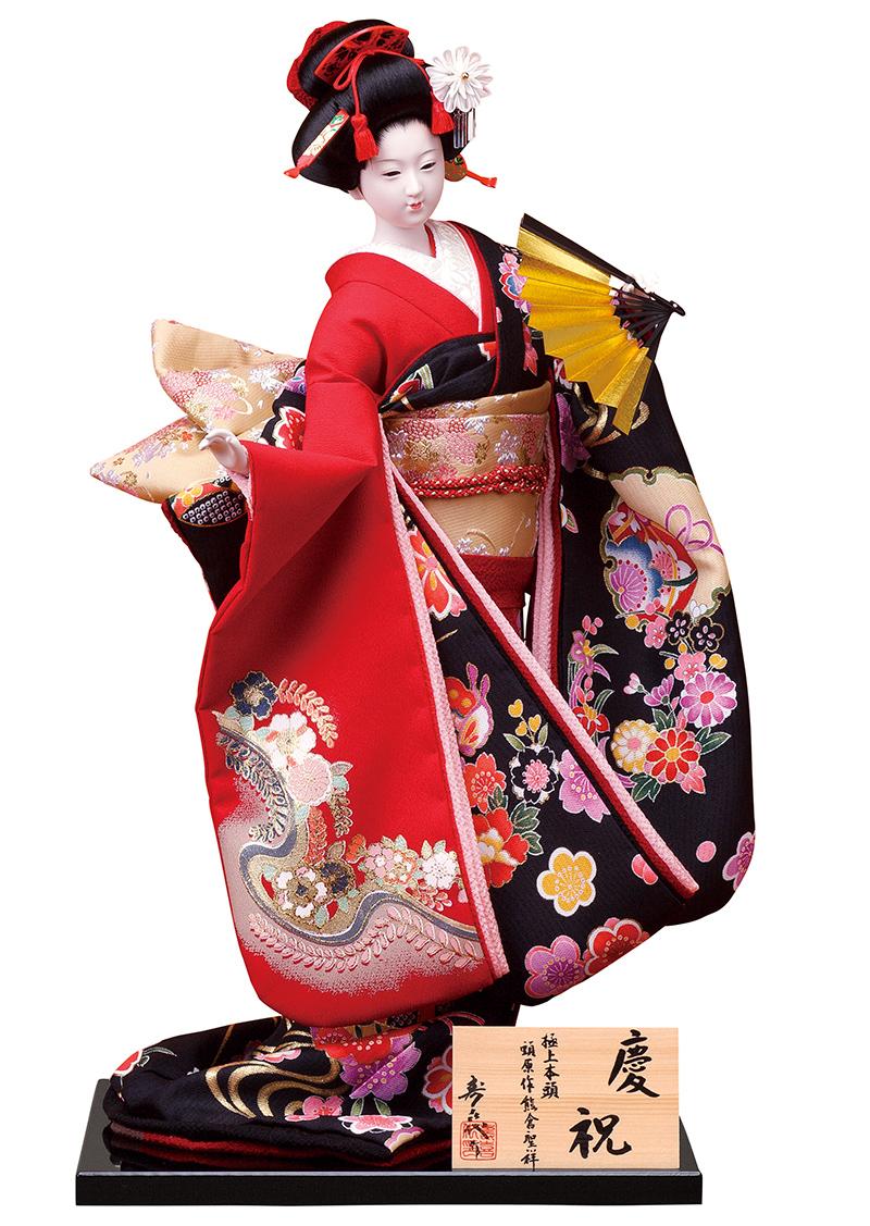 日本人形 尾山人形 人形単品 寿喜代作 熊倉聖祥原作 極上本頭 慶祝 金彩 12号 【2018年度新作】 sk-gokujo370