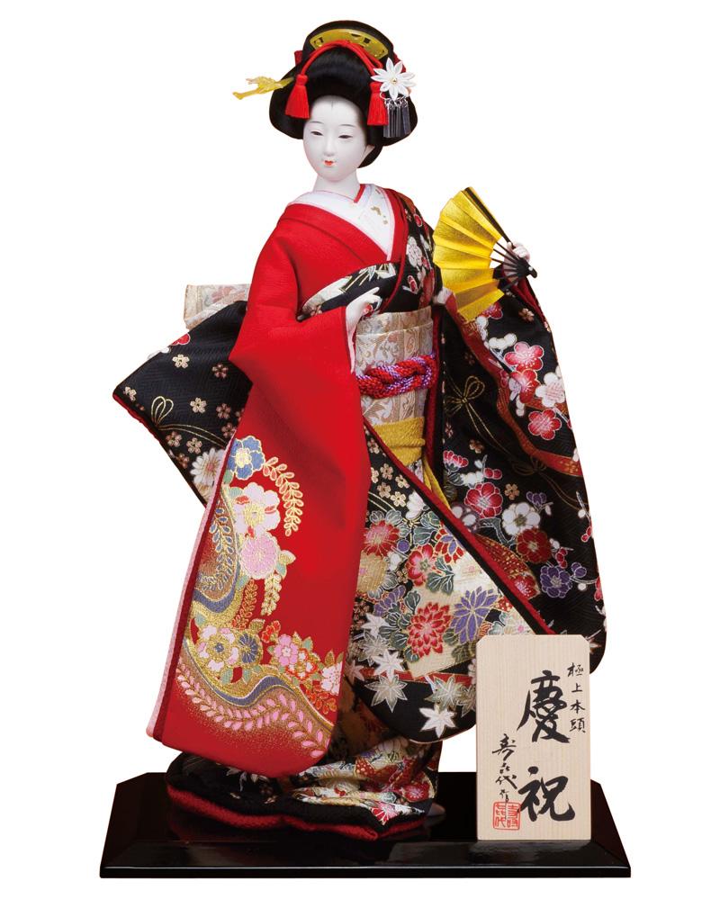 日本人形 尾山人形 人形単品 寿喜代作 極上本頭 慶祝 金彩 8号 【2018年度新作】 sk-gokujo738