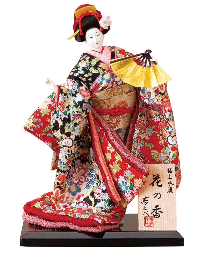 日本人形 尾山人形 人形単品 寿喜代作 極上本頭 花の香 正絹 5号 【2018年度新作】 sk-hananok518