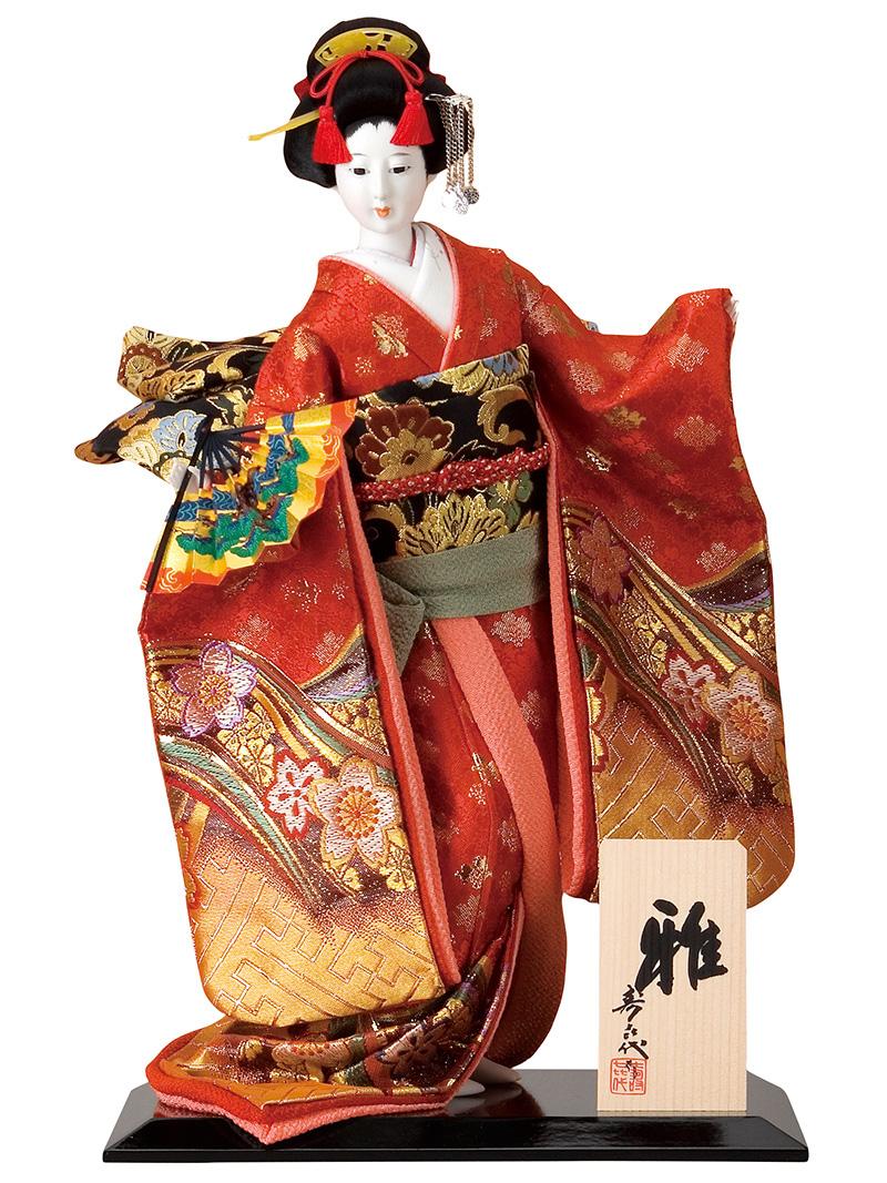 日本人形 尾山人形 人形単品 寿喜代作 雅 金らん 10号 【2018年度新作】 sk-o1679