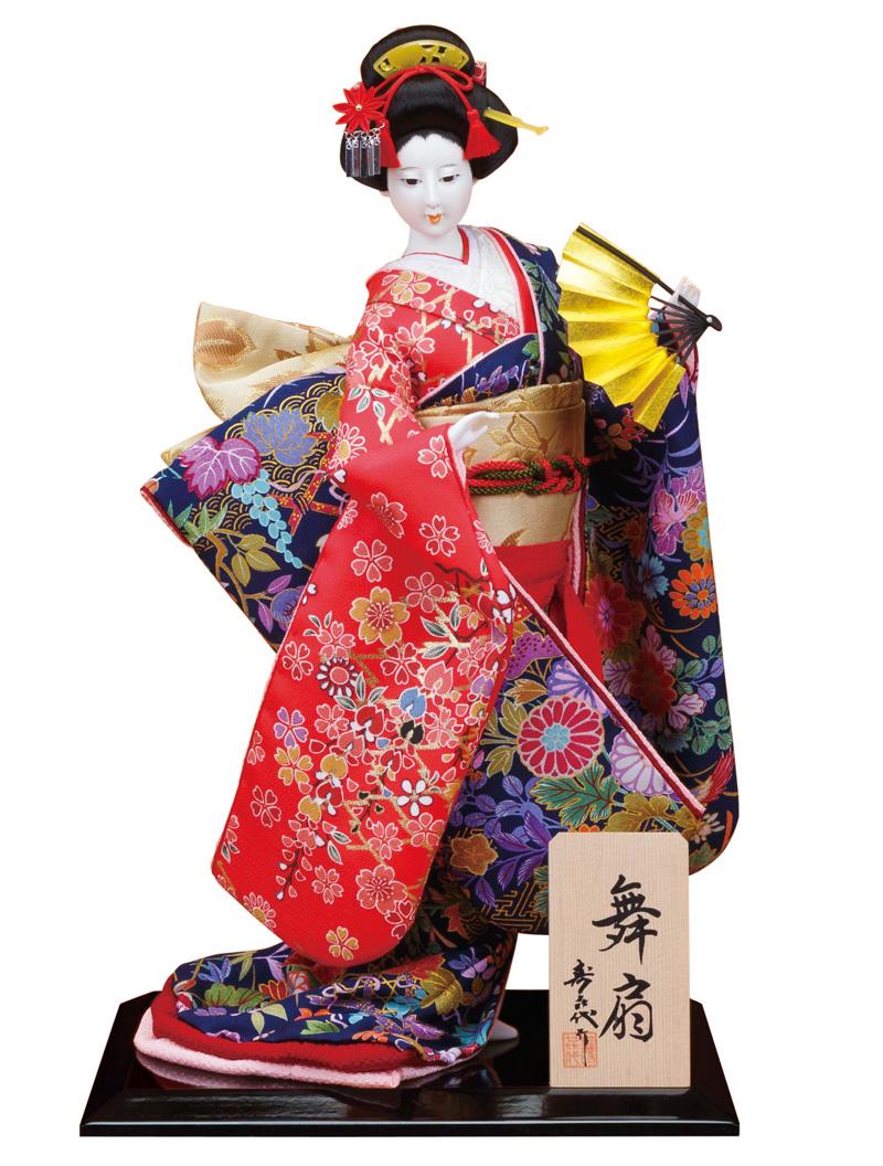 日本人形 尾山人形 人形単品 寿喜代作 舞扇 正絹 10号 【2018年度新作】 sk-o1680