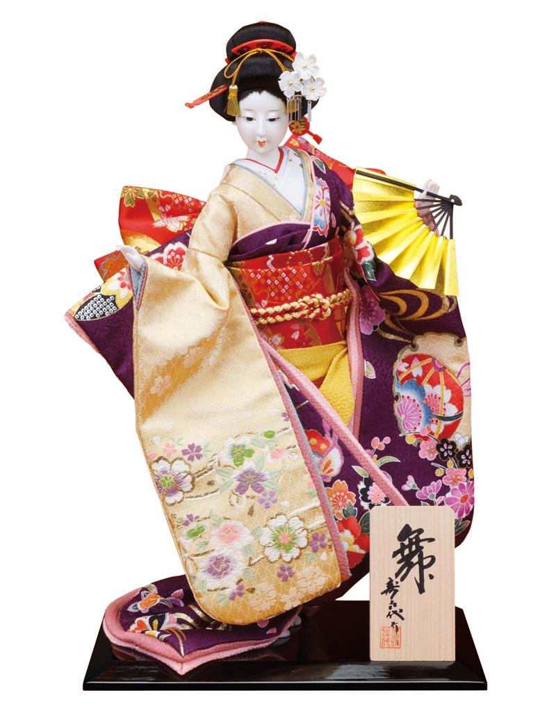 日本人形 尾山人形 人形単品 寿喜代作 舞 友禅 10号 【2018年度新作】 sk-o1681
