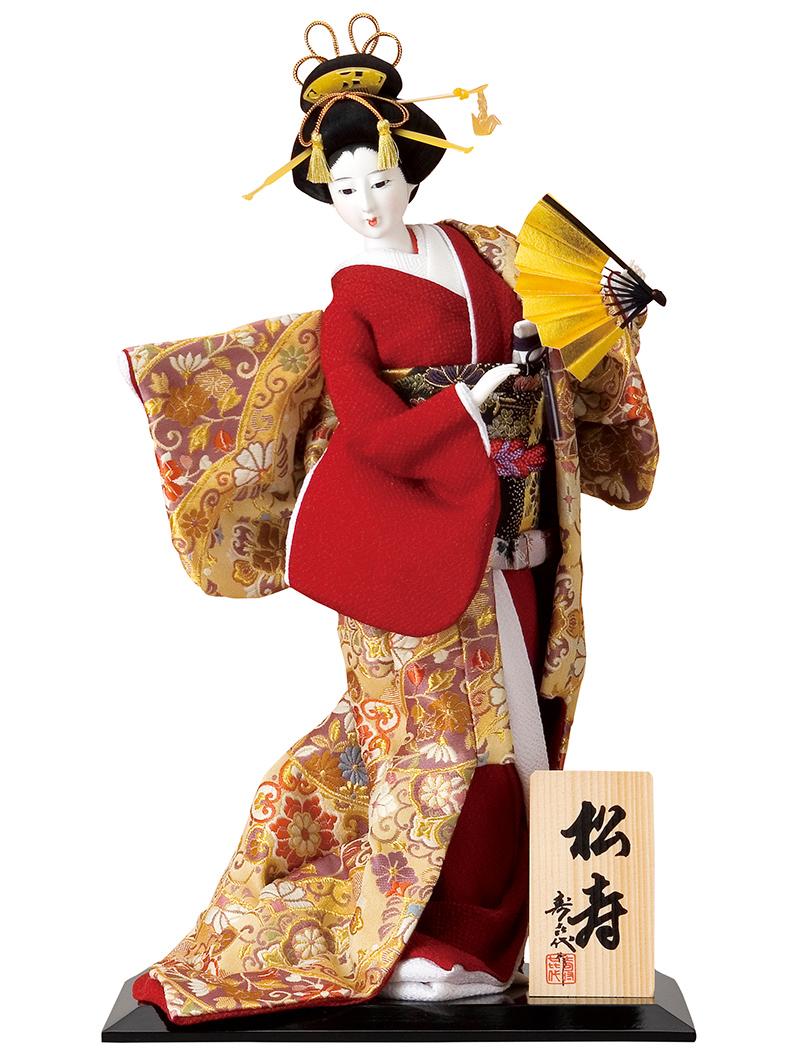 日本人形 尾山人形 人形単品 寿喜代作 松寿 金らん 10号 【2018年度新作】 sk-o1932