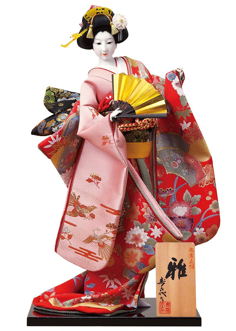 日本人形 尾山人形 人形単品 寿喜代作 雅 正絹 入目 12号 【2016年度新作】 sk-o2621