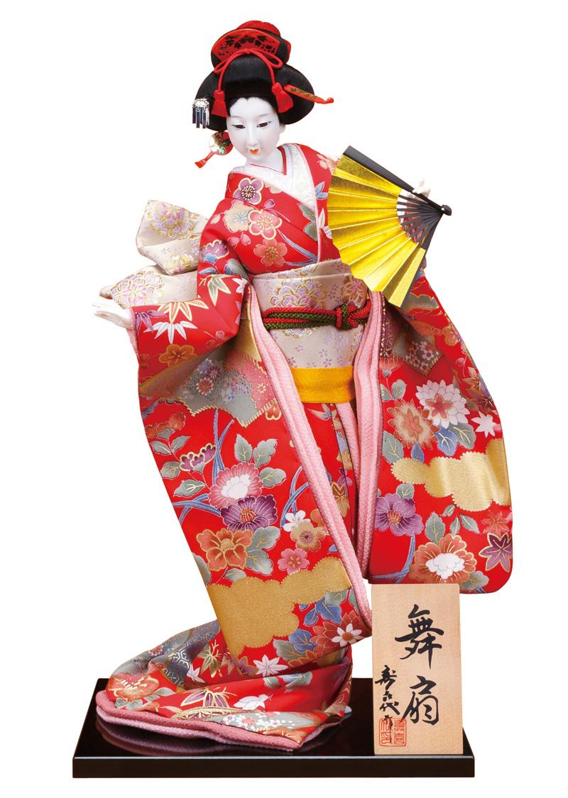 日本人形 尾山人形 人形単品 寿喜代作 舞扇 正絹 12号 【2018年度新作】 sk-o2625