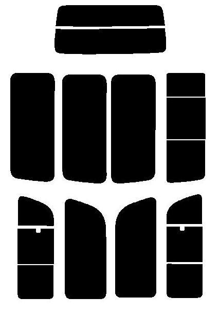 送料無料●ゼロブラック ハイエース ロング 5ドア KDH200K・200V・201K・201V・205K・205V・206K・206V・TRH200K・200V リヤーワイパー無し カット済みカーフィルム リヤーセット