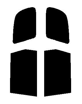 送料無料●リヤーサイドガラスのみ トヨタ ガイア SXM10G・SXM15G・CXM10G・ACM10G・ACM15G カット済みカーフィルム 顔料着色・断熱フィルム