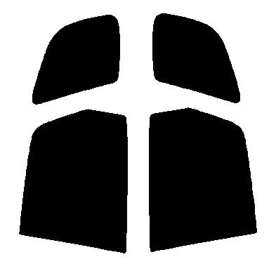 送料無料●リヤーサイドガラスのみ トヨタ スパシオ AE111N・AE115N カット済みカーフィルム 高透明・断熱フィルム
