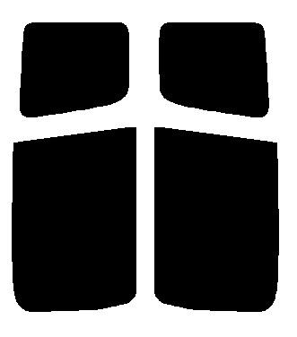 送料無料●リヤーサイドガラスのみ トヨタ ファンカーゴ NCP20・NCP21・NCP25 カット済みカーフィルム 高透明・断熱フィルム
