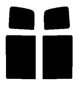 送料無料●リヤーサイドガラスのみ スズキ エブリー エブリィ ワゴン DA64Wカット済みカーフィルム 高透明・断熱フィルム