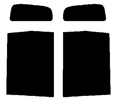 送料無料●リヤーサイドガラスのみ ダイハツ タント L350S・L360Sカット済みカーフィルム 高透明・断熱フィルム