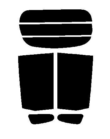 【送料無料】ムーヴ (ムーブ・MOVE) LA100S・LA110S カット済みカーフィルム ミラーフィルム(シルバー) リヤーセット