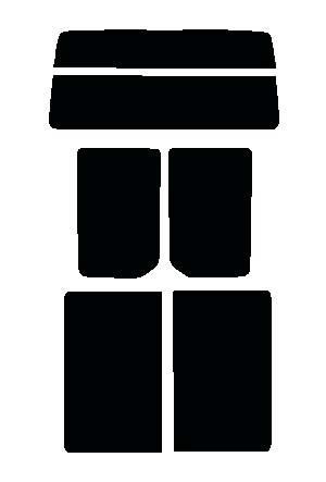 リヤーガラス、サイドガラス 別色指定可能 バモスホビオ HJ1・HJ2 カット済みカーフィルム 高透明・断熱フィルム リヤーセット