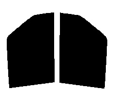 ●GHOST(ゴースト) オーロラ80 運転席・助手席  ミニキャブバン U61V・U62Vカット済みカーフィルム ハードコート 代引き注文不可