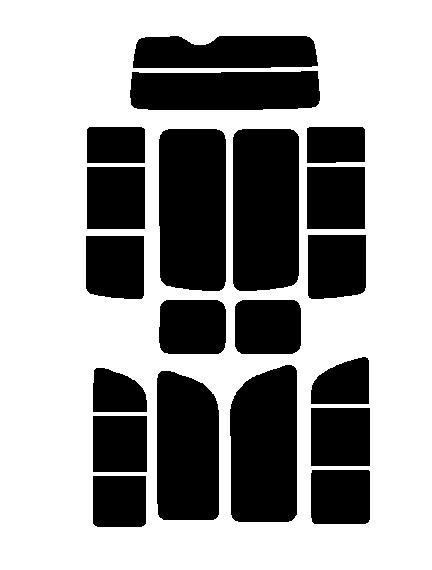ハイエース グランドキャビン TRH224W TRH229W 前期カット済みカーフィルム ハードコート リヤーセット