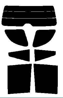 リヤーガラス、サイドガラス 別色指定可能 ★ RAV4 ZCA25W・ZCA26W・ACA20W・ACA21W 5ドア カット済みカーフィルム 高透明・断熱フィルム リヤーセット