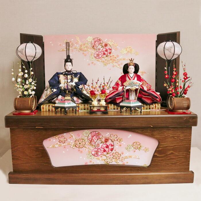 【雛人形・親王飾り】シンプルで高級感ある上品で美しい雛人形