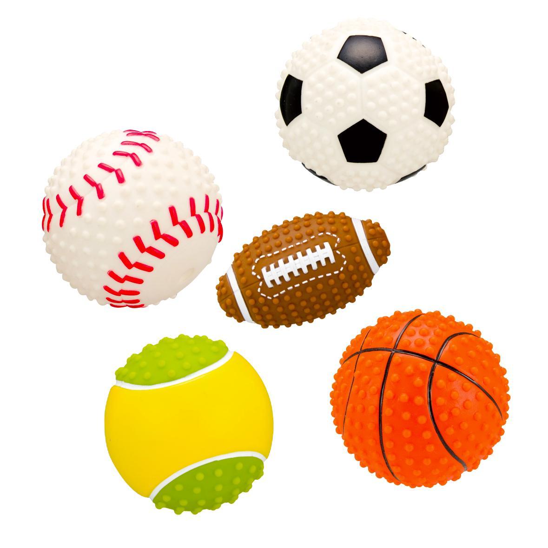 全部で5種類のプラッツGo Fetch!スポーツボール 《あす楽》スポーツボール サッカーボール テニスボール ベースボール フットボール バスケットボール (犬 おもちゃ ボール スポーツ)