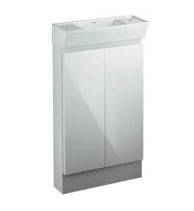 手洗い造作 取替 リフォーム KAKUDAI(カクダイ)角型手洗器キャビネットつき200-311