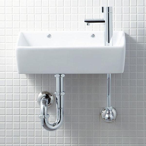 INAX(LIXIL)トイレ用狭小手洗シリーズ手洗タイプ(角形)L-A35HC壁給水・壁排水(Pトラップ)