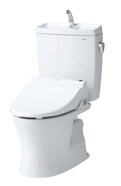 TOTO(トートー)トイレ便器新ピュアレストQRCS230BP-SH233BA手洗付タンク 壁排水