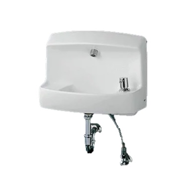 TOTO(トートー)コンパクト手洗器ハンドル式単水栓セット壁給水・壁排水PトラップLSL870APR