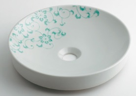 KAKUDAI(カクダイ)丸型手洗器//ペパーミント493-097-GR