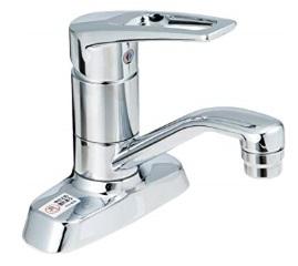 KVK洗面用シングルレバー式混合栓 ゴム栓なしKM7004T(一般地)/KM7004ZT(寒冷地)