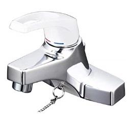 KVK洗面用シングルレバー式混合栓(ゴム栓付)寒冷地用KM7014ZT2